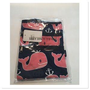 Navy & Pink Whale Crossbody Bag
